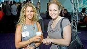 Lee Hecht Harrison Company's Ludmila de Spanolis and Melissa Fleming at the Boston Business Journal's Best Places To Work awards breakfast.