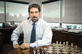 Pegasystems CEO Alan Trefler cited communication sector gains in an earnings report that sent the company's stock up by 19 percent at midday, even as the Dow and other major market indexes tumbled.