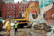 The construction sector: The Bay State added construction jobs in February, according to a March report.