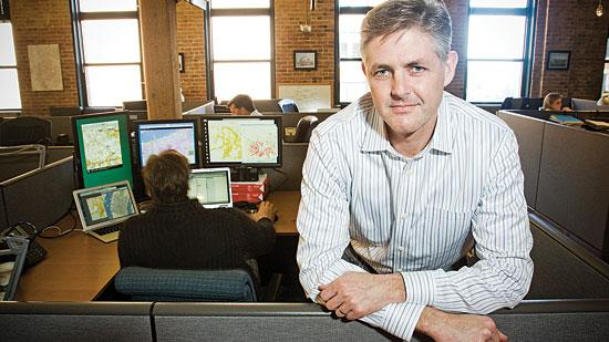 Ted Morgan, founder and CEO of Skyhook Wireless in Boston, sees strong demand for location-linked advertising.