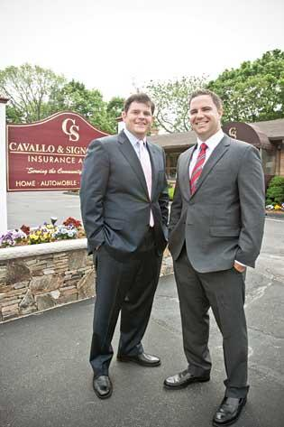 Since Ben Cavallo, left, and Keith Signoriello took over C&S Insurance, the agency has tripled in size.