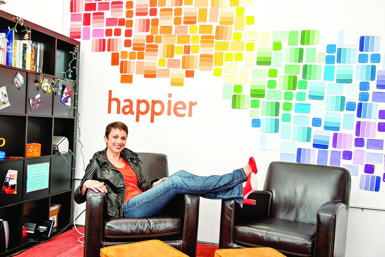 Nataly Kogan, co-founder of Boston startup Happier, says the firm's social network has already gained more than 100,000 users since its launch in February.