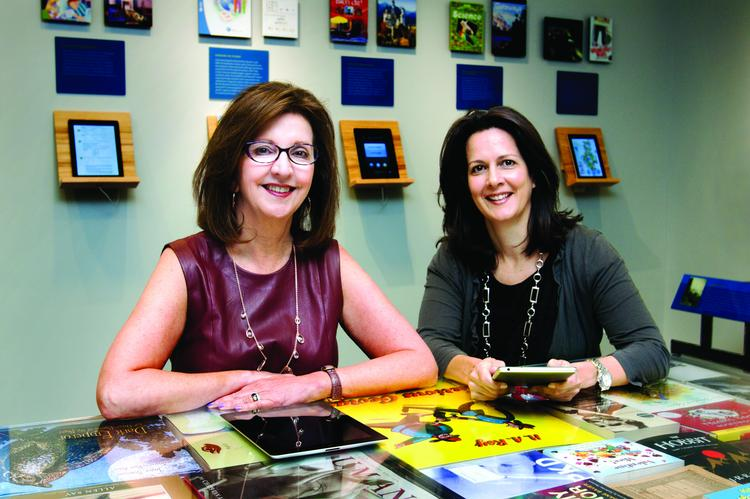 Houghton Mifflin Harcourt CEO Linda Zecher, left, and Mary Cullinane, the company's chief content officer, are helping to lead the iconic publisher's increasing focus on digital sales.