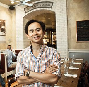 Photo of Kingston Station owner Ky Nguyen in his restaurant.
