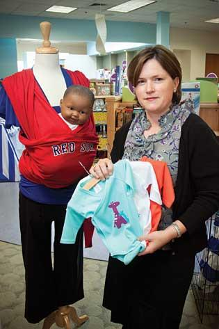 """Heather Coughlin, CEO of Isis Parenting in Needham, is rolling out a new retail concept in select Babies """"R"""" Us locations in Texas and Georgia."""