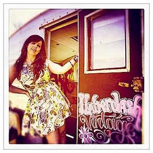 Instagram fan Amy Chase outside her fashion truck the Haberdash.