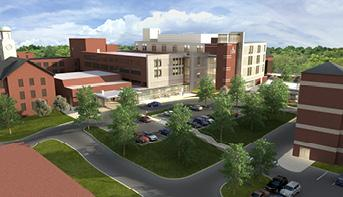 This is a rendering showing what Lowell General Hospital will look like when an expansion is complete.