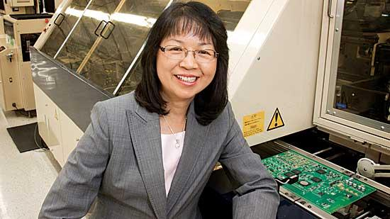 Agnes Young is president and CEO of Adcotron, an electronic manufacturing facility in South Boston.