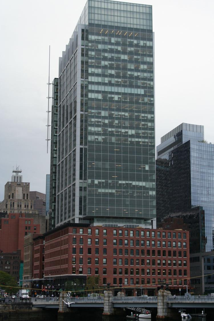 The 750,000-square-foot Boston Properties building at 280 Congress St. — Atlantic Wharf — has reached 100 percent occupancy.