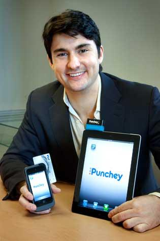 Nathaniel Stevens, CEO and founder of Punchey, which has developed mobile card readers for use on iPhones and iPads allowing for securely conducted transactions.
