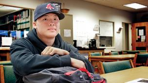 Matt Wong at college facility