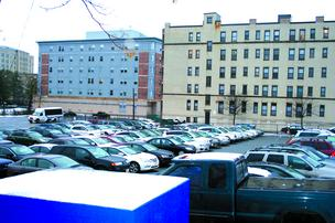 Children' Hospital wants to transform a parking lot it owns on Beacon Street into an office building with garage parking.