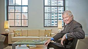Kevin Ahearn, president of Otis & Ahearn Real Estate, in a unit being offered at the new Atlantic Wharf at Atlantic and Congress streets in Boston.