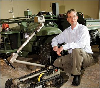 IRobot Corp. CEO Colin Angle says the Bedford company is looking to the health care space for future growth as growth in demand military items — such as unmanned ground vehicles — is slowing
