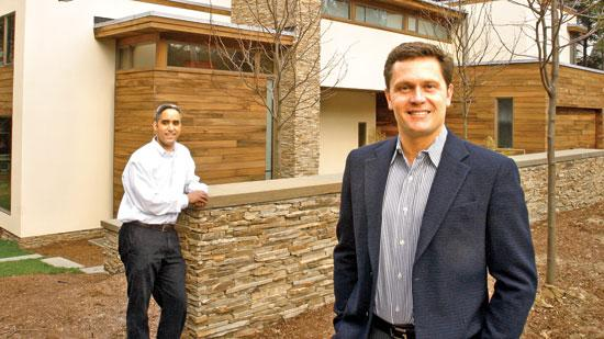 Lombardi Design's Jason Harris, left, and Greg Lombardi are among a growing class of small-business owners reaping the benefits of a competitive commercial loan market among local banks.