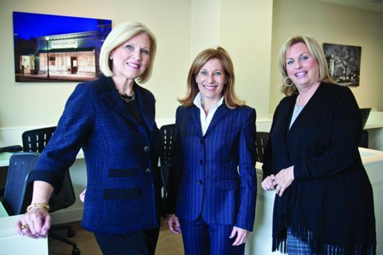 From left: Debi Benoit, Amy Mizner and Sheryl Simon founded Benoit Mizner Simon & Co. in Wellesley, in 2010 and have quickly built one of the most successful residential real estate firms in the state.