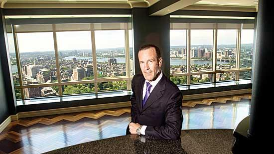 Michael Doherty, a partner of Citylife Real Estate, in the Ritz Carlton condo he just sold with literally a $2.3 million view.