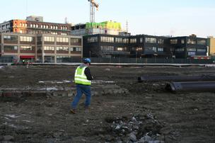 Demolition is complete at 1325-1341 Boylston St. to make way for Boylston West.