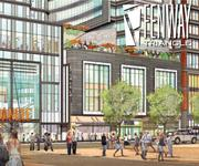 An artist rendering of Boylston West, a mix of office, apartments and retail to be built behind Fenway Park.