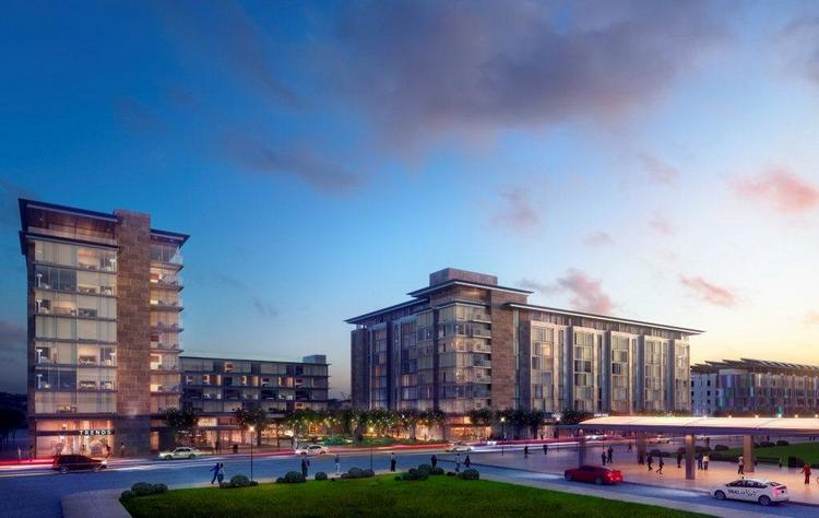 An artist rendering of two hotels to be built by Commonwealth Ventures across from the Boston Convention & Exhibition Center.
