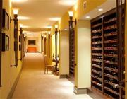 The wine room at 5 Willow Rd. in Weston.