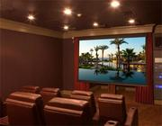 The private theater room at 5 Willow Rd. in Weston.