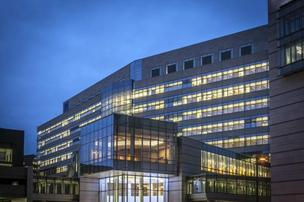 The $400 million Albert Sherman Center on the University of Massachusetts Medical School campus in Worcester.