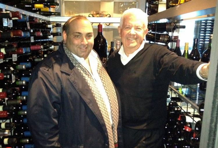 Nick Varano (left) of the Varano Group with Beacon Grille founder William Cummings.