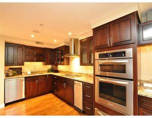 The custom kitchen in Wes Welker's Commonwealth Avenue condo.