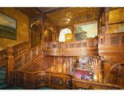 The intricate woodwork at the mansion that once belonged to Ted Raymond.