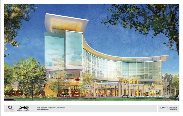 Caesars Entertainment is pulling out of a project (illustrated here) to build a casino at Suffolk Downs.