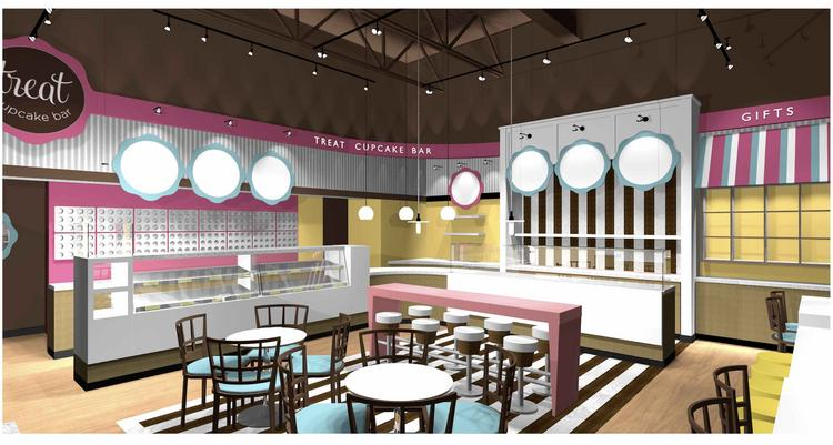 Treat Cupcake Bar opens today, Monday, at The Street in Chestnut Hill.