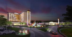 A rendering of the Mohegan Sun proposal for a site off the Mass. Pike in Palmer.