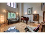The 16-by-17-foot living room at the Ipswich River Road home in Danvers.