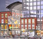 The view from Causeway Street of the proposed mixed-use development in from of the TD Garden.