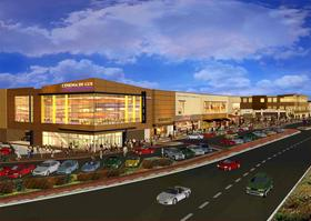 Artist rendering of the new Cinema de Lux to be built at the Chestnut Hill Shopping Center in Newton, Mass.