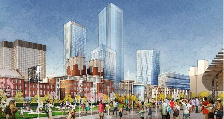 The three neighborhoods abutting the Government Center Garage are raising questions about the height of the 48-story office tower proposed for the site.