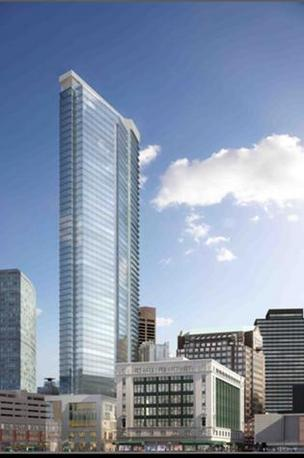 Millennium Partners' rendering of Filene's redevelopment.
