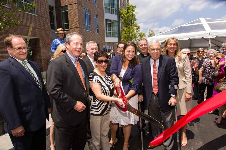 Ribbon cutting at the Charlesview Residences, a 340-unit mixed-income development in Allston-Brighton.