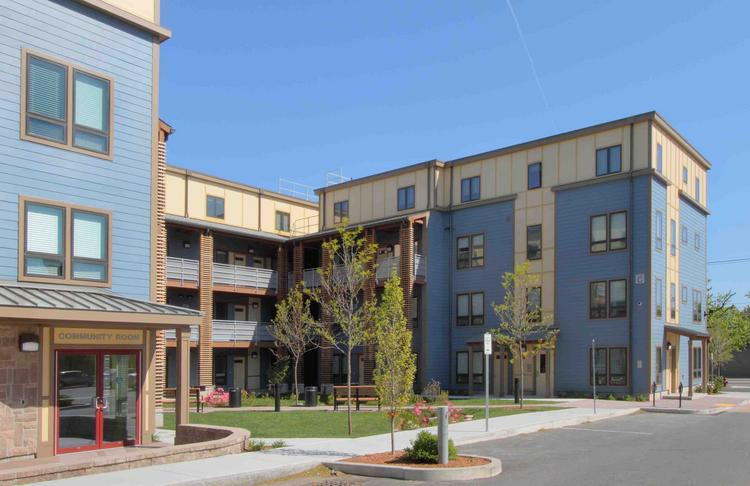 The latest phase of Saint Polycarp Village on Buter Drive in Somerville, Mass.