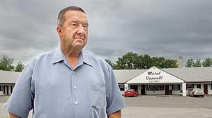 Russell Caswell, a motel owner, is facing off in federal court over the seizure of his property.