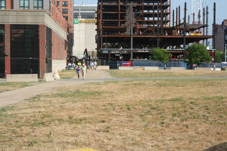 Site on the Rose Fitzgerald Kennedy Greenway for One Canal, a residential and retail project.