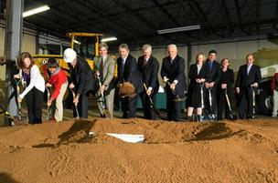 Groundbreaking of the Massachusetts Green High Performance Computing Center in Holyoke.