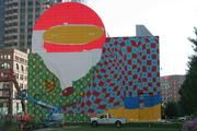 Mural on Rose Fitzgerald Kennedy Greenway at Dewey Square is closer to completion.