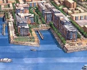 Stalled development in East Boston like Clippership Wharf, could be helped with a $1.6 million initiative by the Menino administration for 