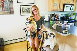 Andrea McDonough, a tenant in South Boston with her two dogs, said renters with pets are having a hard time finding an apartment in the city'€™s tight rental market.