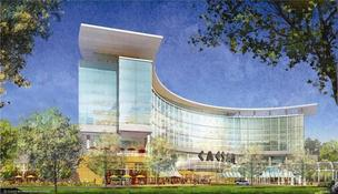 A rendering of the proposed Suffolk Downs casino in East Boston. Mayor Thomas Menino announced a deal with the casino developers stipulating annual payments worth an estimated $52 million to the city.