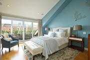 Master bedroom suite at Union Wharf.