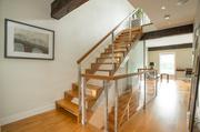 Staircase to the master suite at Milan Lucic's townhouse on the Boston waterfront.
