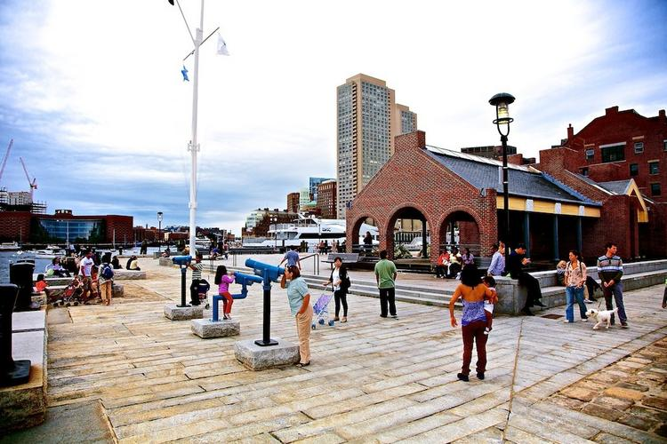 This waterfront parcel at the tip of Long Wharf on Boston Harbor is at issue in a Supreme Judicial Court case.